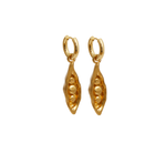Gold Pea in a Pod Earrings