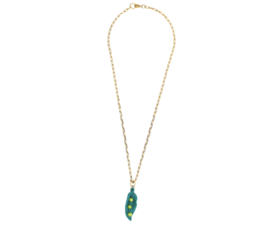 Pea in a Pod Glass Necklace