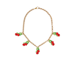 Cherries Chunky Chain Necklace