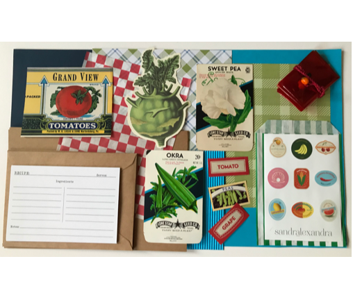 Collage Parcel 18 - Market Treasures & Fruity Trinkets