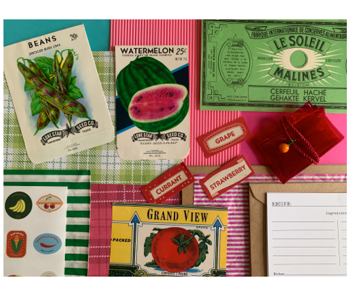 Build your own postcard - Market Treasures & Fruity Trinkets