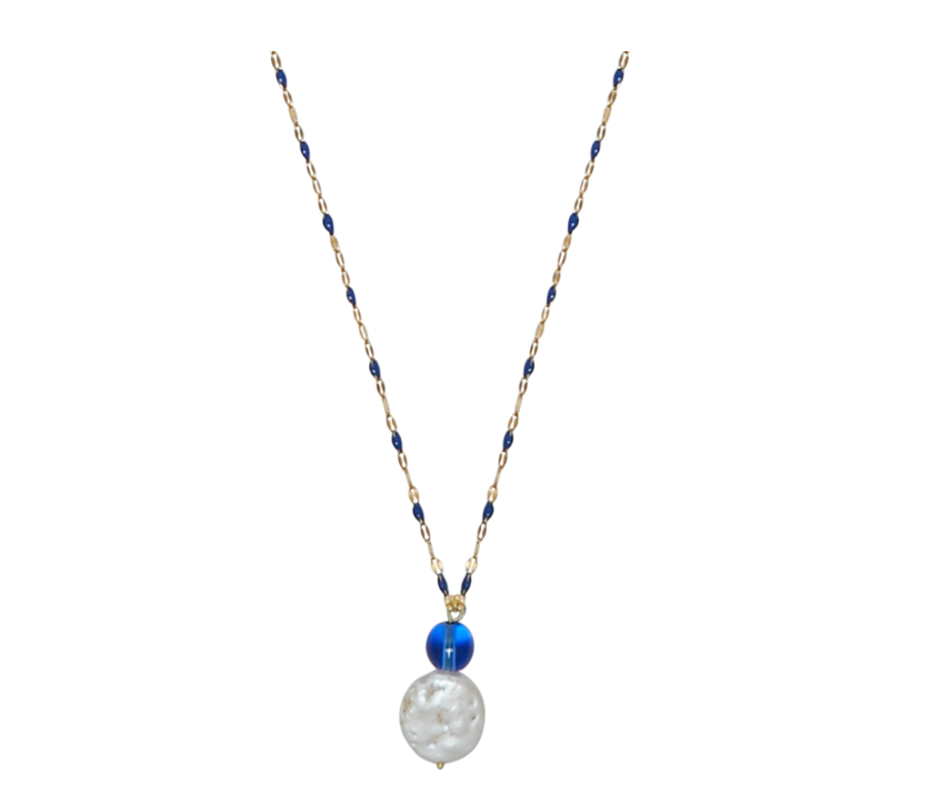 Jo Blue Glass Necklace