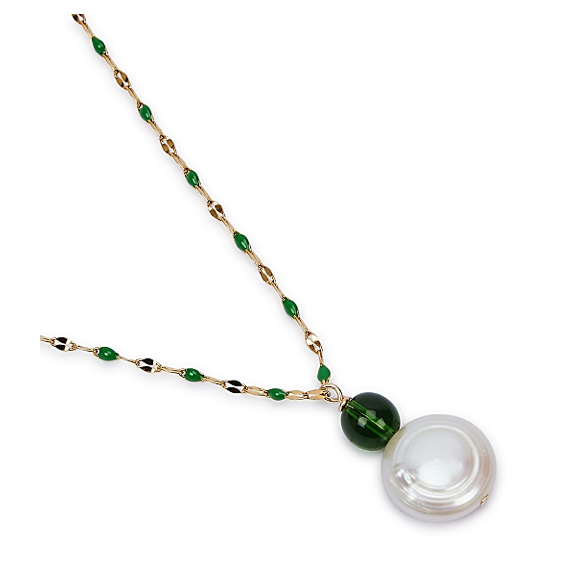 Jo Green Glass Necklace