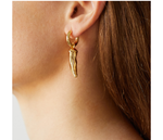Gold Chilli Earrings
