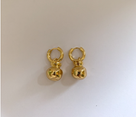 Gold Pomegranate Earrings