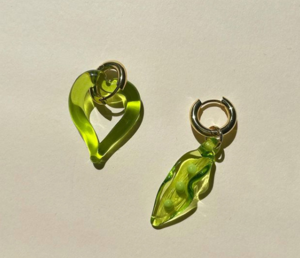Heart of Glass Lime Green