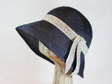 lightweight straw cloche ~ Audrey