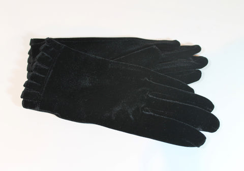 fancy pleated trim ~ Velvet gloves