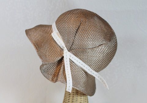 lightweight straw cloche sunhat ~ Jane