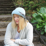 velour felt women's cloche ~ Edith
