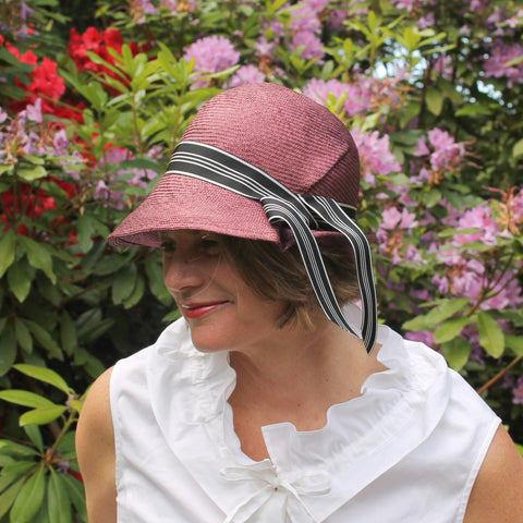 parasisal straw cloche with pleat ~ Claudette