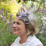 abstract lavender straw fascinator ~ Royal