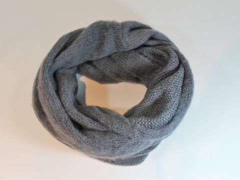 wide, cozy eternity scarf  super soft acrylic, mohair, and wool blend infinity basic classic gift unisex
