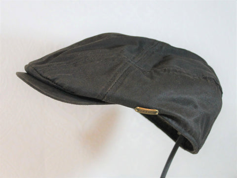 waxed cotton weather proof rain hat driver ivy cap