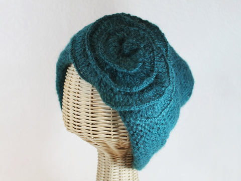 slouchy knit with flower ~ Jamie