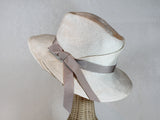 pleated wide brim straw fedora ~ Rosalind