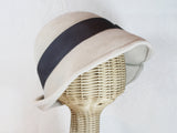 custom vintage inspired pleated cloche ~ Lana