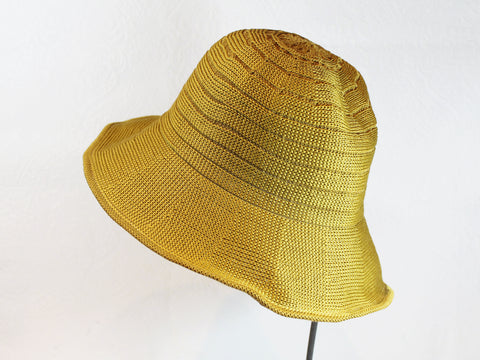 wired brim knit sunhat ~ Abigail