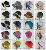 custom wide brim pleated fedora ~ Nellie Bly