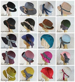 custom velour felt pleated cloche ~ Louisa