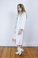 Vintage 70's White Dress & Long Coat Co-Ord Two Piece - Tigers Eye | Boho & Grunge Vintage Clothing & T-shirts for Women