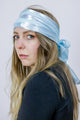 Vintage 70's Pastel Blue Striped Semi-Sheer Scarf Headscarf - Tigers Eye | Boho & Grunge Vintage Clothing & T-shirts for Women