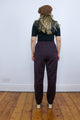 Vintage 90's Brown Thick Knitted Wide Leg Trousers - Tigers Eye | Boho & Grunge Vintage Clothing & T-shirts for Women