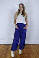 Vintage 80's Blue Wide Leg Loose Trousers - Tigers Eye | Boho & Grunge Vintage Clothing & T-shirts for Women