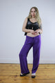 Vintage 90's Purple Beaded Loose Hippie Boho Trousers - Tigers Eye | Boho & Grunge Vintage Clothing & T-shirts for Women