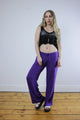 Vintage 90's Purple Beaded Loose Hippie Boho Trousers - Tigers Eye