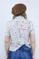 Vintage 90's Cheesecloth Gingham Floral Print Grunge Short Sleeve Shirt - Tigers Eye