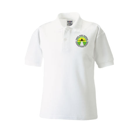 Borras Park School White Polo Shirt