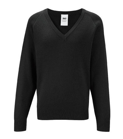 Bryn Alyn Black V Neck Jumper