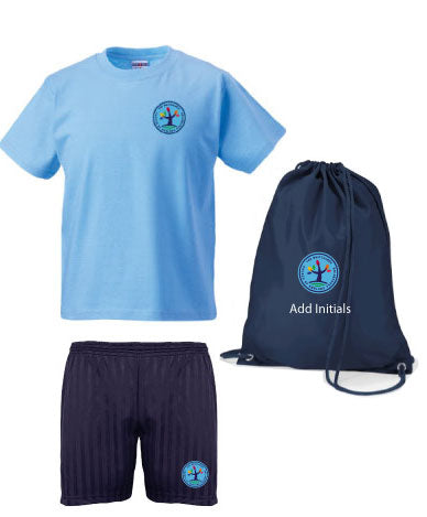 Whitchurch Church of England PE Kit in a Bag with shorts