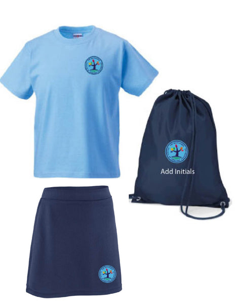 Whitchurch Church of England Federation PE Kit in a Bag with skort