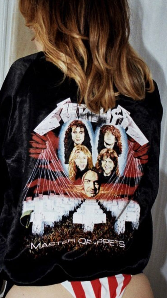Rare Metallica 'Master of Puppets' Satin Bomber Jacket