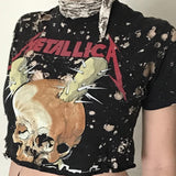 Thrashed To Hell Cropped Metallica T-shirt
