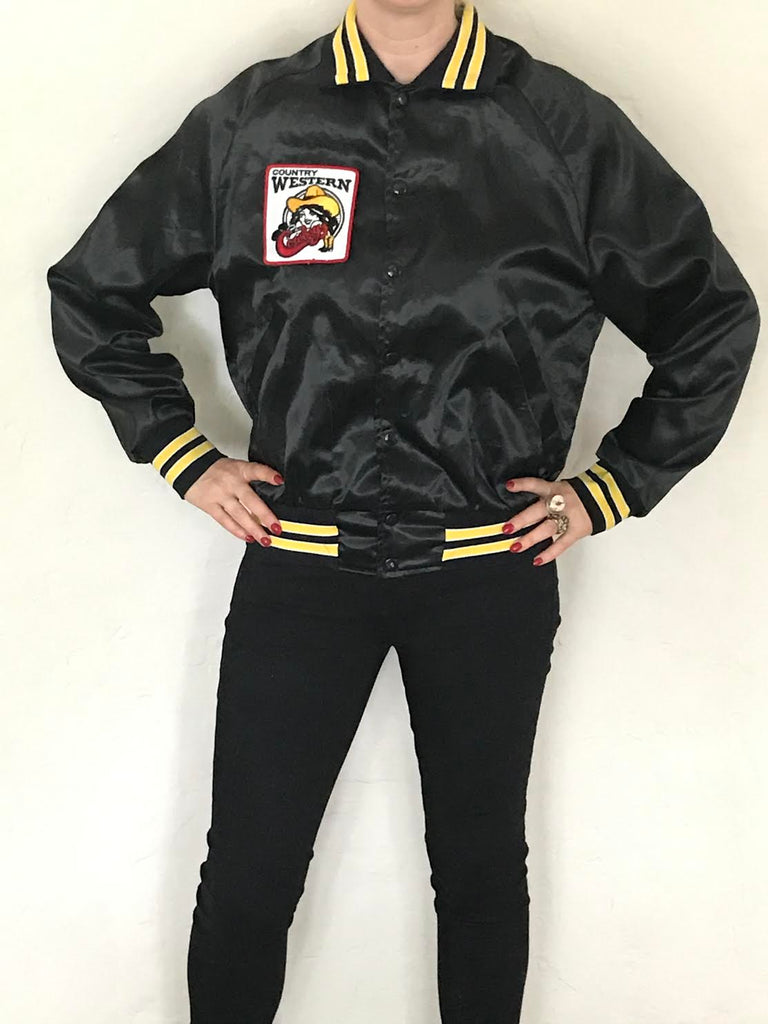 Vintage Country & Western Satin Bomber