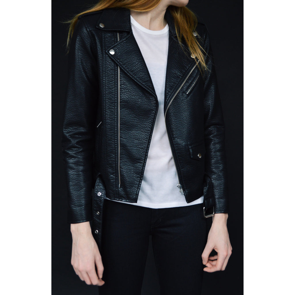 Pebbled Moto Jacket