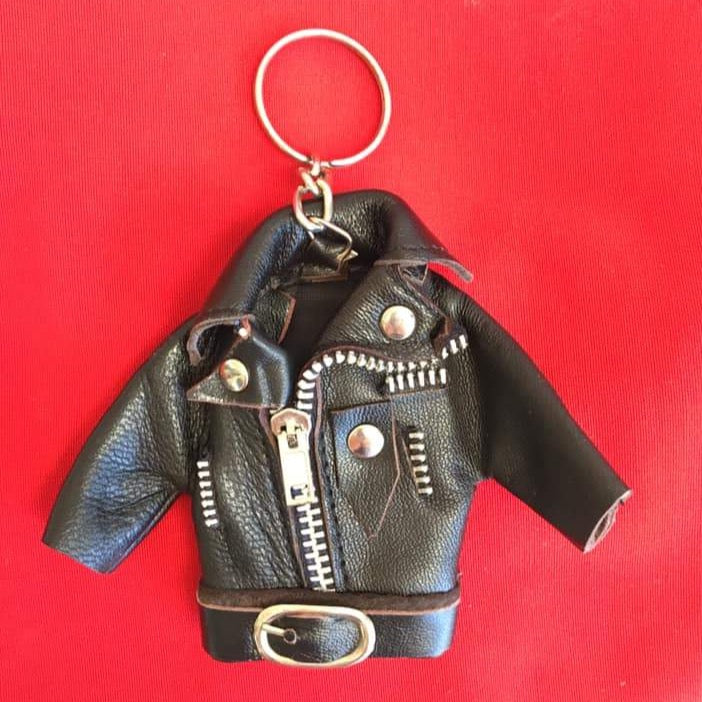 Born A Bad Seed™ Leather Jacket Keychain