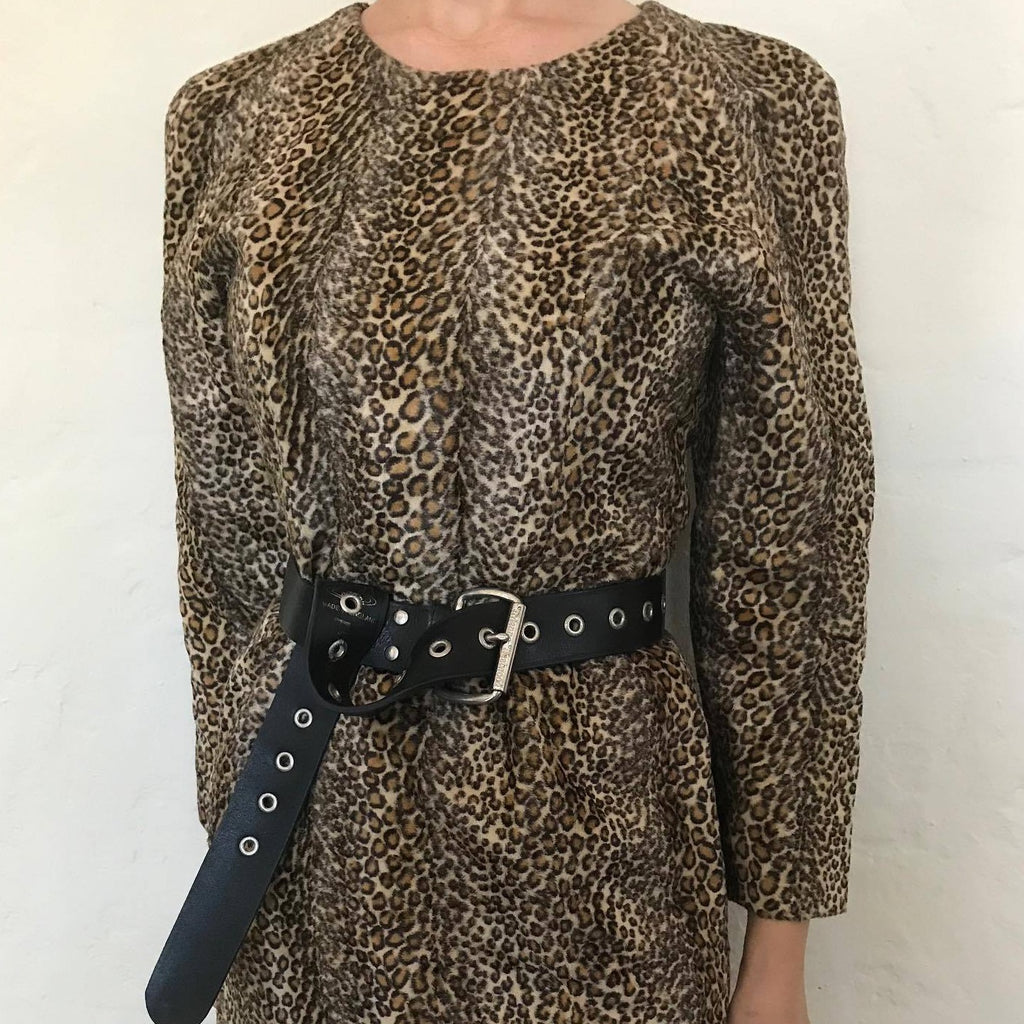Gorgeous Hand Stitched Faux Fur Leopard Dress