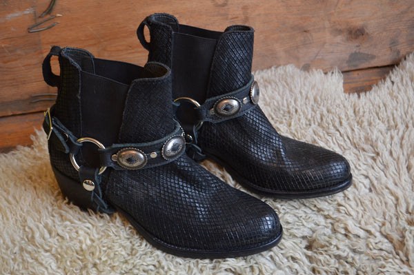 HellBent Leather Concho Bootstraps