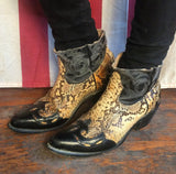 Snakeskin Ankle Cut Cowboy Boots