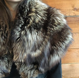 Large Dark Fur Stole
