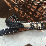 Beautiful Black & Silver Tooled Leather Belt And 1979 Harley Buckle