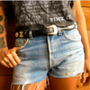 Black Leather & Concho Belt