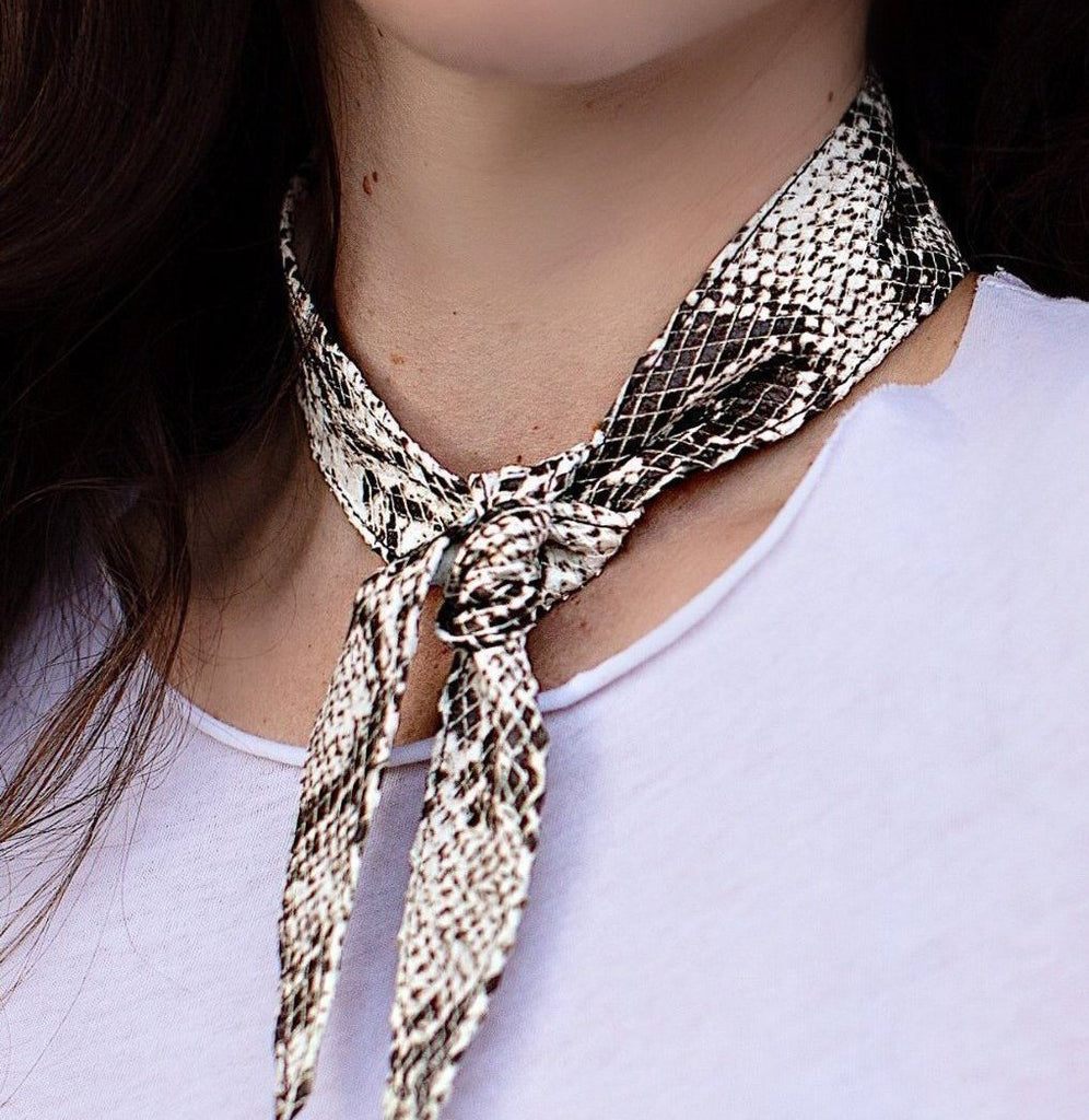 Snake Sin Leather Bandana