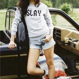 SLAY Sweater Gray