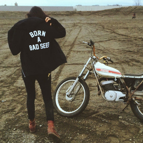 BORN A BAD SEED RAGLAN Black