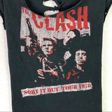 Clash Sort It Out Tour 1978 Tee With Lace Up Back
